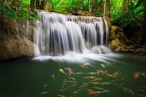 The Huai Mae Khamin Waterfall , Thailand