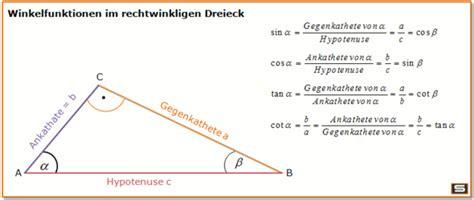 wie kann man  einem rechtwinkligen dreieck die