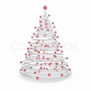 Weihnachtsbaum Metall Design : weihnachtsbaum aus aus metall spiralen und roten kugeln stockfoto colourbox ~ Frokenaadalensverden.com Haus und Dekorationen