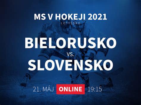 Podarí sa slovenskému tímu poraziť českú reprezentáciu? Bielorusko - Slovensko: ONLINE prenos z MS v hokeji 2021   Športky.sk