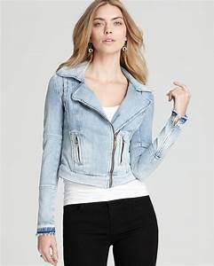 Mango Jeans Size Chart Lyst Guess Jacket Denim Moto Zip In Blue