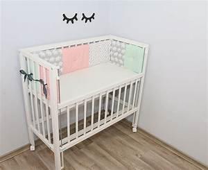 Baby Nestchen Rosa : patchwork nestchen f r beistellbett elefant mint rosa ~ Watch28wear.com Haus und Dekorationen