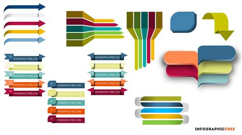 infographic ribbons banners powerpoint template