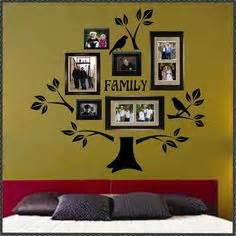 wall decal sticker removable photo frame tree with family With where can you buy vinyl letters