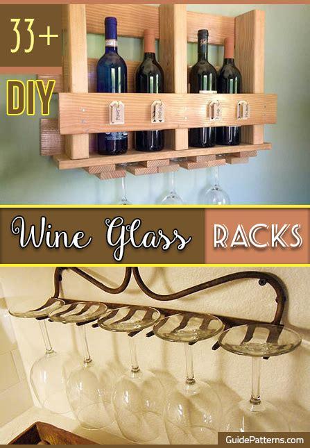 diy wine glass racks guide patterns