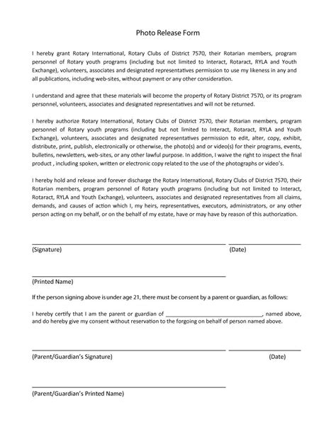release form 53 free photo release form templates word pdf