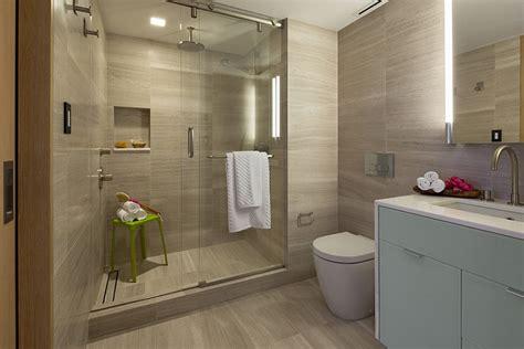 Modern Day Bathroom Ideas by Modern Bathroomw Ith Glass Shower Enclosure