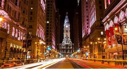 Philadelphia Downtown Accident Hall Night Philly York