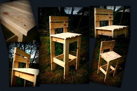 chaise haute b b pour bar chaise de bar en bois de palette récup