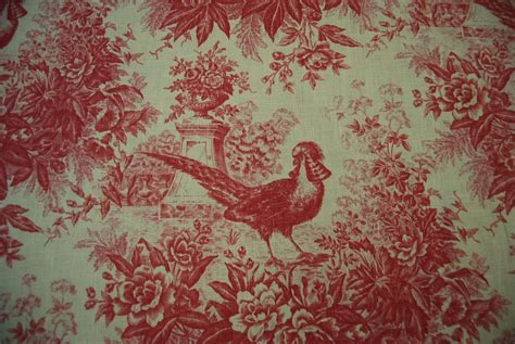 toile country pheasant bird classic printed linen
