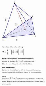 Höhe Von Pyramide Berechnen : pyramide mit dreieckiger grundfl che ~ Themetempest.com Abrechnung