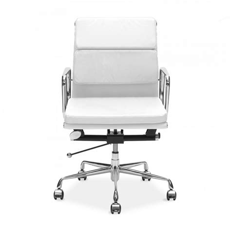 eames style white back soft pad office chair cult uk