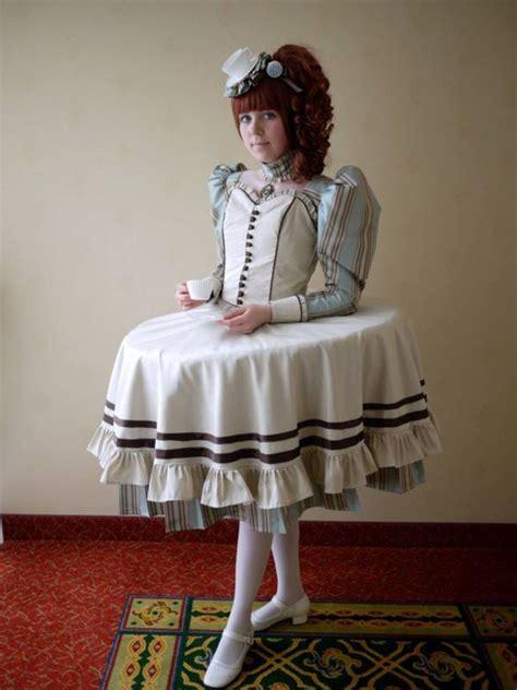furniture incorporating cosplay costumes tablewear