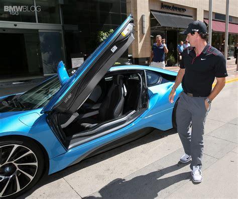 golf star rory mcilroy takes  bmw    ride