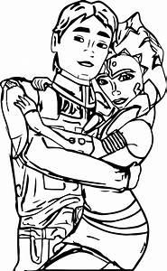 Ahsoka Tano Couple Coloring Page Wecoloringpagecom