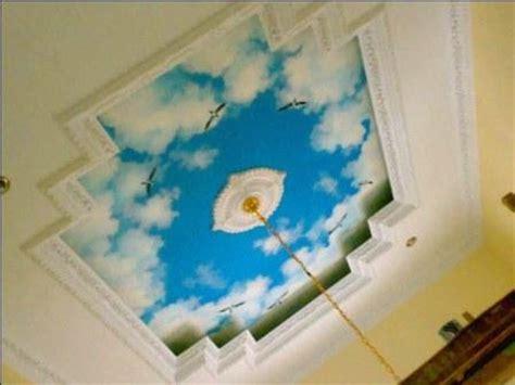 jasa pengecatan motif gambar awan  plafon jasa cat