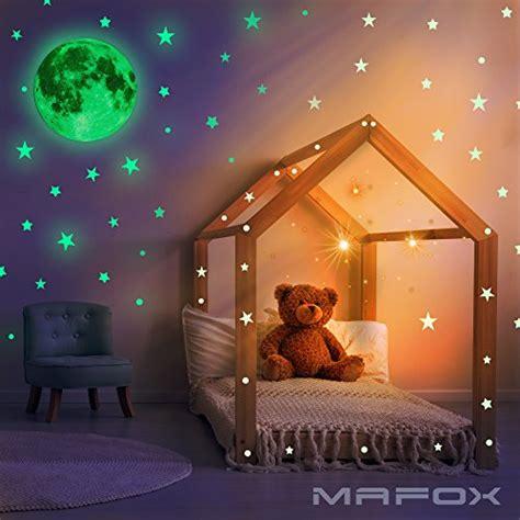 mafox glow   dark wall  ceiling stars  moon