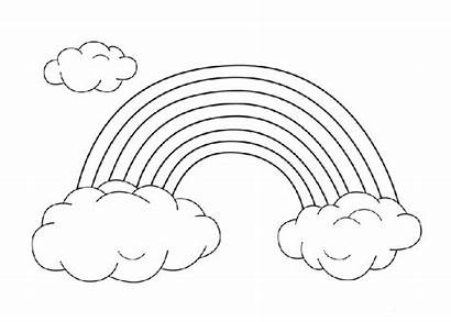 Rainbow Coloring Pattern Pages Sheets Worksheet Cartoon