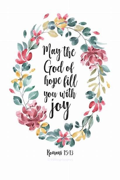 Bible Joy Hope Verses God Romans Printable