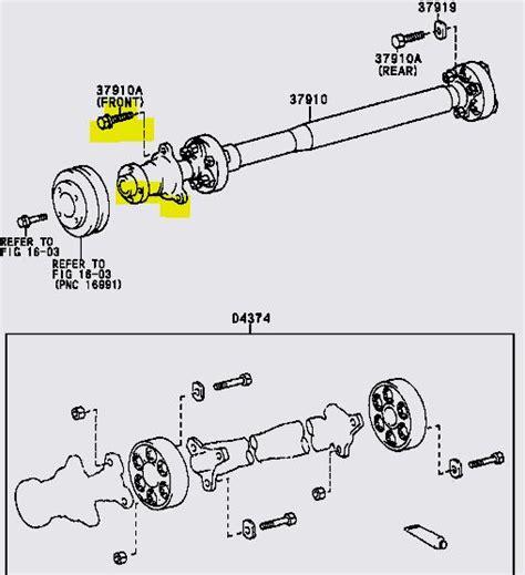 replace  flex couplers   aux drive shaft    tarago    bolts