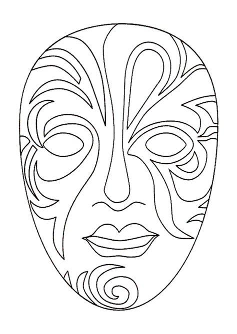 Coloriage Masque Venise Sur Hugolescargotcom