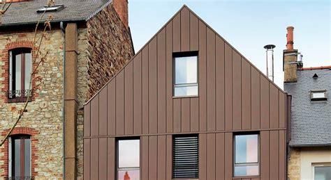 deco chambre papier peint façade en zinc une protection écologique esthétique et