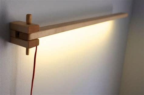 wooden wall mounted swing arm led lamp  lindleylighting