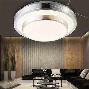 Led Lampe Rund : 12 watt led decken lampe schlafzimmer leuchte rund 1 flammig chrom opal eek a globo 41738 12 ~ Frokenaadalensverden.com Haus und Dekorationen