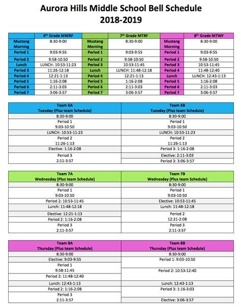 aurora hills bell schedule aurora hills middle school