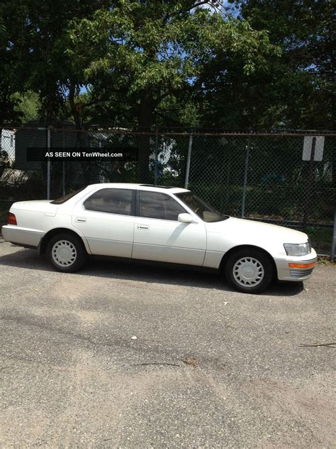 1992 lexus ls400 1992 lexus ls 400 pearl white wonderful cond 2nd senior