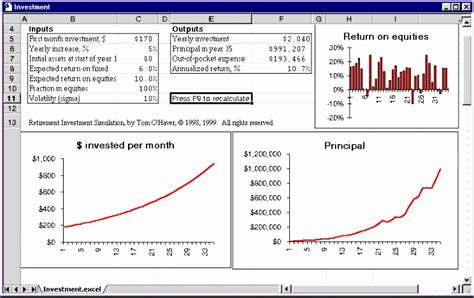 investment calculator excel template exceltemplates