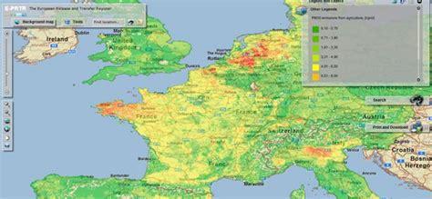 Carte Pollution Europe by La Carte Des Pollutions En Europe Et En