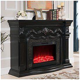 62quot Grand Black Electric Fireplace At Big Lots For The