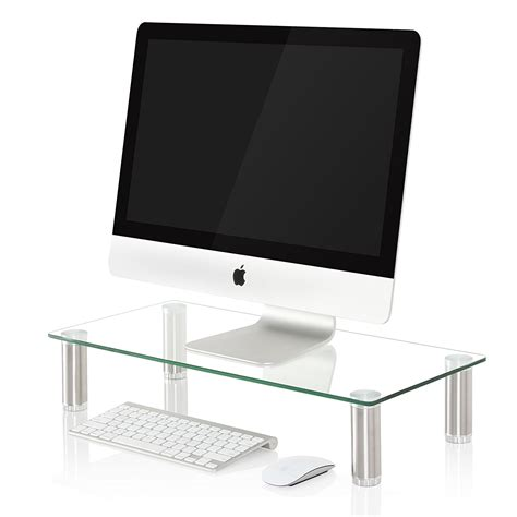 clear acrylic lap desk fitueyes clear computer monitor riser amazon lightning