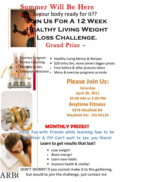 Weight Loss Challenge Flyer Template by Weight Loss Challenge Flyer