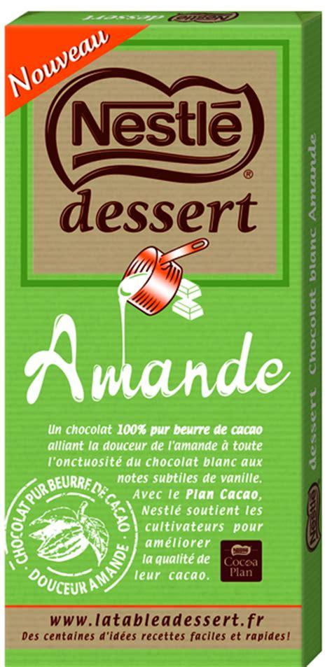 nestl 233 dessert 233 toffe chocolat 224 p 226 tisser avec une nouvelle recette amande de nestl 233 dessert