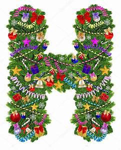 letter h christmas tree decoration stock photo With noel letters christmas decoration