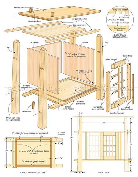 kitchen cabinet plans japanese cabinet plans woodarchivist