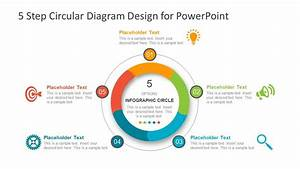 5 Step Circular Diagram Design For Powerpoint