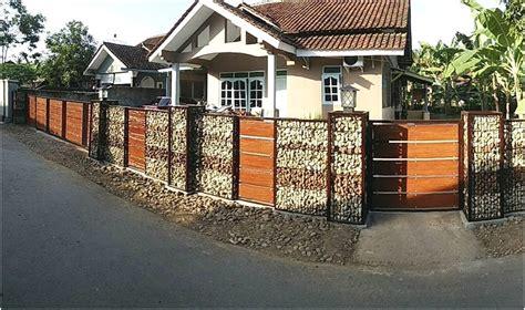 desain pagar rumah minimalis modern type  kumpulan