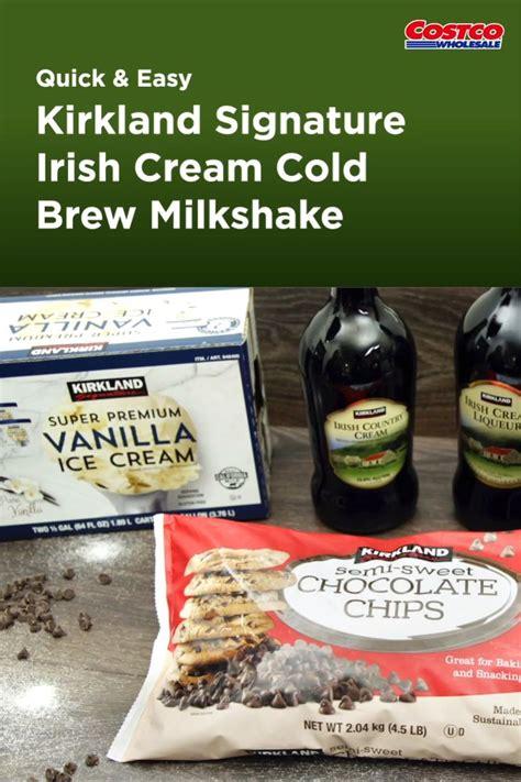 How to make cold brew coffee. Kirkland Signature Irish Cream Cold Brew Milkshake [Video ...