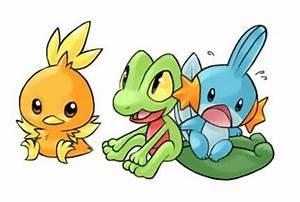 Torchic, Treecko, and Mudkip | Pokemon | Pinterest | Mudkip
