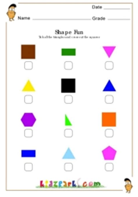 tick triangle cross   squares worksheethome