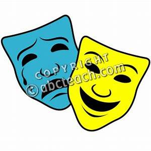 Clip Art: Comedy and Tragedy Masks 1 Color | abcteach
