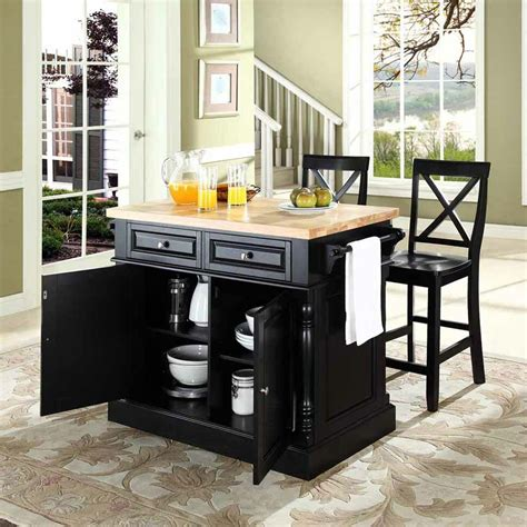 darby home co lewistown 3 piece kitchen island with butcher block top reviews wayfair