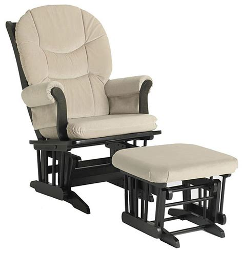 dutailier rocking chair and ottoman dutailier ultramotion beige microfiber espresso finished