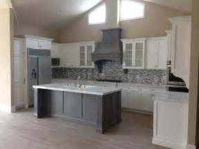 nickel faucets kitchen shaker white kitchen fluted grey island style kitchen los angeles by woodwork