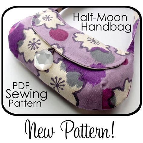 printable purse patterns  moon handbag sewing