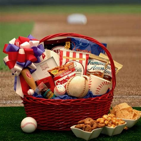 gifts for baseball fans baseball fan gift basket all about gifts baskets