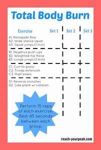 Total Body Workout  Printable